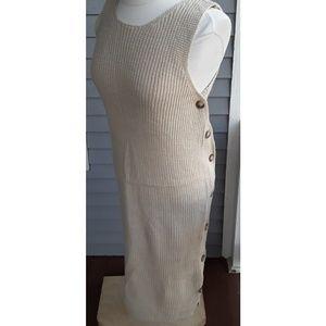 Dresses & Skirts - Mo:vint Beige Rib Knit Tank Sweater Dress, sm